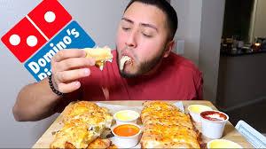 Dominos Cheesy Bread Mukbang Youtube
