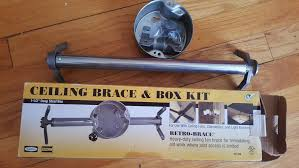 hubbell ceiling fan brace and box kit heavy duty new in box for fans and fixture