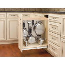 Kitchen Organizer Rev A Shelf 255 In H X 8 In W X 225 In D Pull Out Wood Base