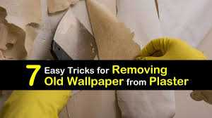 remove old wallpaper from plaster walls