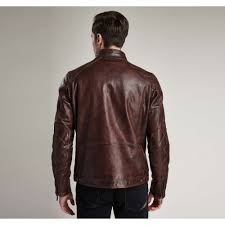 barbour international james mens leather jacket
