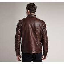barbour international james mens leather jacket