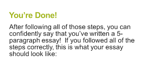 paragraph essay structure ppt video online  33 you re done