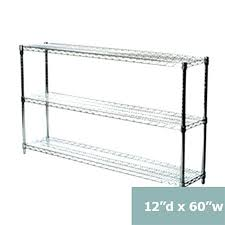 three tier wire shelving racks inches deep d com inch wall cabinets shelf units 12 wide