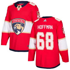 Home Mike - Red Authentic Hoffman Jersey Adidas Youth Florida Panthers