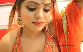 party makeup with orange dress indian video