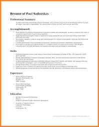 resume summary statement examples - Templates