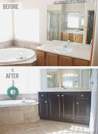 painted oak kitchen cabinets before and after. How You Can Stain Oak Kitchen Cabinets And Bathroom Vanities . Painted Before After