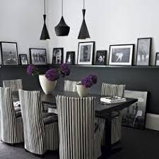 dining room awesome dining room design with striped chairs painting frame arrangement black pendant ls black and white wall gothic style