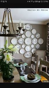 creating a decorative plate wall, dining room ideas, home decor, wall decor.put  in antique frame