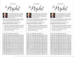 President Nelson Four Invitations General Conference October 2018 Book Of Mormon Reading Chart And Schedule 12 Weeks Flyer Printable