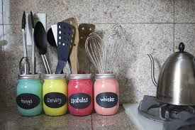 kitchen office organization ideas. Looking For A Fun And Colorful Way To Organize Your Kitchen Counter Or Desk Space? This Tutorial Will Show You How Versatile Canning Jars Can Be As Office Organization Ideas T