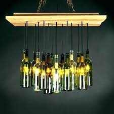 glass bottle chandelier wine light fixture magnificent diy