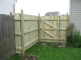 photo 6 foot high straight top dog ear fence with french gothic posts