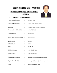 Ejemplo De Curriculum Vitae En Word Curriculum Vitae Ejecutivo Ejemplo Curriculum Vitae Victor Manuel