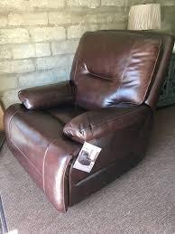 huntington top grain leather glider recliner by simon li for in camarillo ca offerup