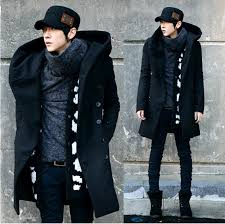 2018 whole men overcoat grey black navy blue 2016 fashion mens pea coat with hood double ted long wool trench coat from erzhang