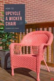 Bright Coats Of Inspire Paint + Primer Gives Your Outdoor Wicker Chair A  New Look