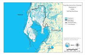 tampa bay anclote river watershed distribution of fema 100 year flood zones november 30 2001