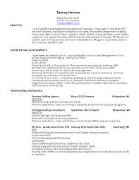 Resume Occupational Therapy Resume