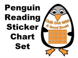 Reading Sticker Chart Penguin Reading Sticker Chart Set