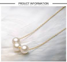 ys modern design 7 8mm triple pearls pendants 925 sterling silver pendant necklace
