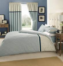 valeria blue quilt duvet cover set with matching curtains and ed sheet double by stylishbedrooms co uk kitchen home