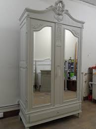 white armoire wardrobe bedroom furniture. Cabinet Storage Bedroom Furniture Exciting Armoire Wardrobe White Closet Grey Color And Mirrored Doors Interior Design Amazing References Small Sliding E