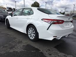 White[Super White] 2018 Toyota Camry SE Standard Package B11HST AM Left  Rear Corner Y