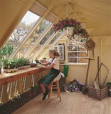 potting shed combining storage