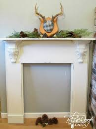 diy faux fireplace mantel with plans 1