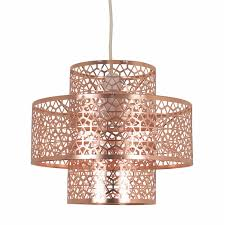 amazing home design brilliant rose gold pendant light in pandora 3 layer metal at homebase