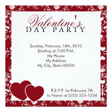 Valentines Day Invitations Enchanting Red Damask Valentines Day Invitation Square Invitation Card