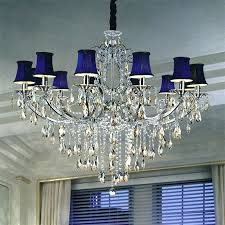 crystal drop chandelier chandeliers with black shade and drops delicate deep blue shape