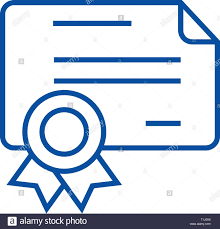 Certificate Outline Certificate Diploma Line Icon Concept Certificate Diploma