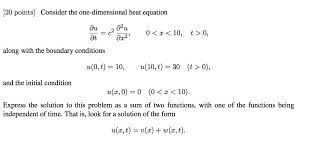 120 points der the one dimensional heat equation 0 z 10 t 0