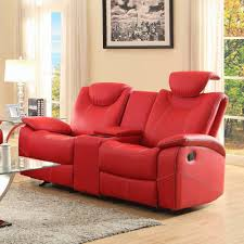 red leather reclining sofa. Homelegance Talbot Red Leather Reclining Sofa And Loveseat C