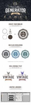 17 best ideas about logo maker logo stamp custom logo maker retro emblem generator design creativemarket