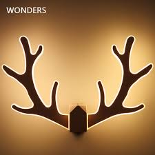 Deer Head Led Light Us 39 0 20 Off Modern Minimalist Antler Wall Lamp Bedroom Bedside Aisle Staircase Acry Light Nordic Creative Room Deer Head Wall Lamp 110v 220v In