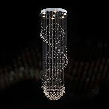 stainless steel built modern led crystal ceiling chandelier dk ld2038 7