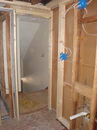 sliding bathroom mirror:  bathroom pocket door photo slconstruction photobucket ideas