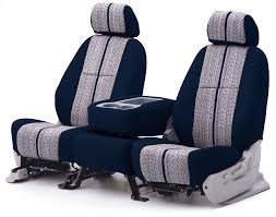 dark blue saddle blanket seat cover