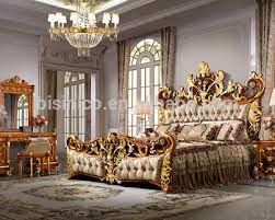 luxury king size bed. Bisini Luxury Palace King Size Bed, Royal Golden Bedroom Furniture Bed