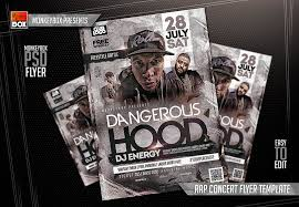 flyer rap free rap concert flyer template by andydreamm on deviantart