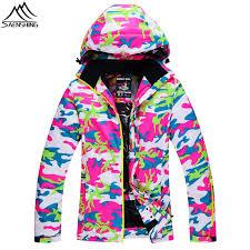 Saenshing Camouflage Winter Ski Jacket Women Super Warm