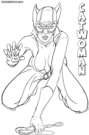 39+ Catwoman Coloring Pages Background