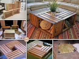 diyhowto 15 diy coffee table ideas and free plans with instructions wine crate coffee table