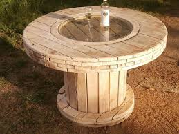 diy wooden spool table for your home s exterior