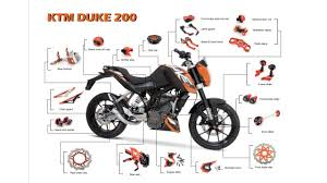 functional and decorative motorcycle parts and accessories for ktm