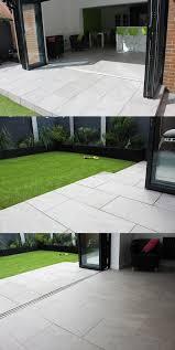 Paving Slabs Patio Design Inside Outside Contemporary Garden Bi Fold Doors
